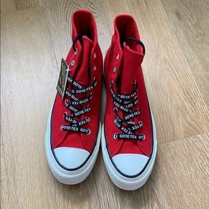 Gore Tex Red Converse